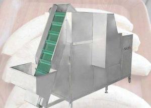 Green Banana Peeling Machine with Feeding Elevator