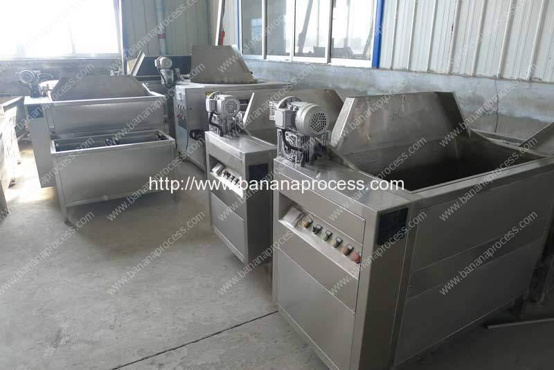 Semi-Auotmatic Banana Chip Frying Machine with Auto Discharge Function