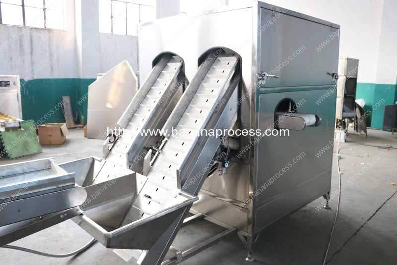 Double Belt Yellow Ripe Banana Peeling Machine for Sale