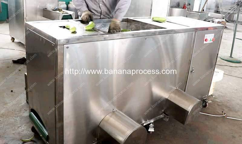 Double Inlet Green Plantain Peeling Machine for Indonesia Customer