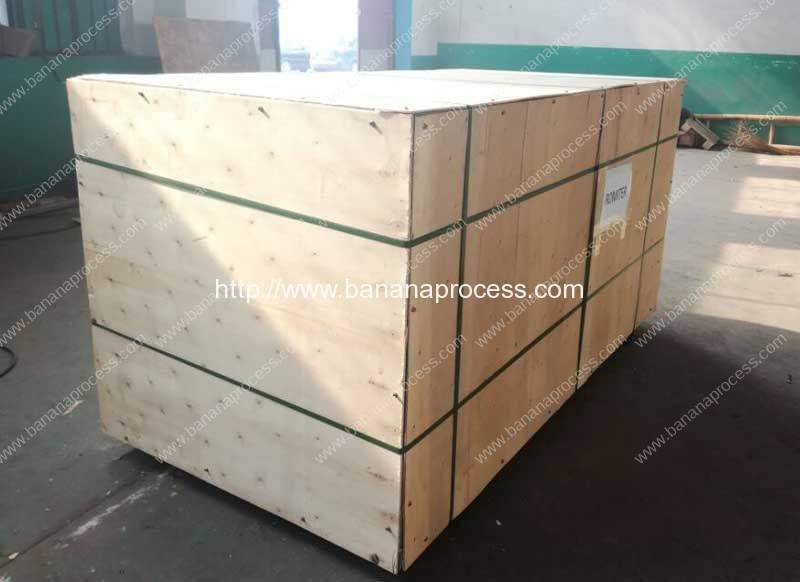 Double Inlet Green Plantain Banana Peeling Machine Delivery for Thailand Customer
