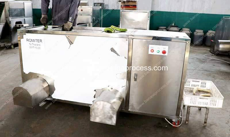 Double Inlet Green Plantain Banana Peeling Machine for Thailand Customer