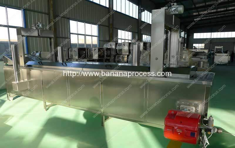 Automatic Natural Gas Heating Banana Chips Frying Machine
