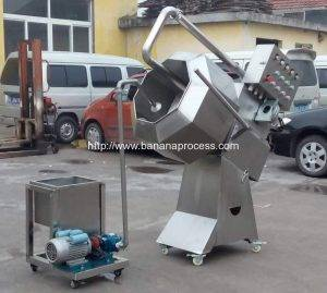 Semi-Automatic Liquid Syrup Spray Seasoning Machine with Hot Air Dryer Function