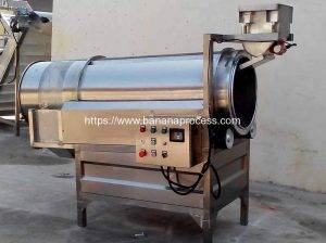 Continous Frying Banana Chips Flavoring Machine