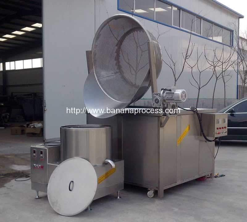 Semi-Automatic-Discharging-Banana-Chips-Frying-Machine