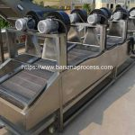 Air Blow Type Frying Banana Chips Oil Removing Machine