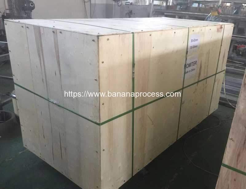 Double-Inlet-Green-Banana-Peeling-Machine-Package-for-El-Salvador-Customer