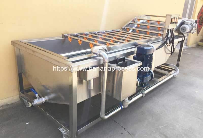 Automatic Green Banana Air Bubble Water Washing Machine