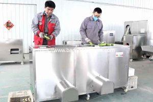 Double Inlet Green Banana Peeling Machine for Peru Customer