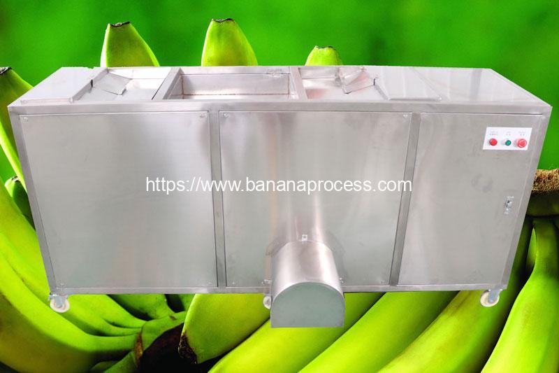 Auto-Feeding-Double-Belt-Green-Banana-Peeling-Machine