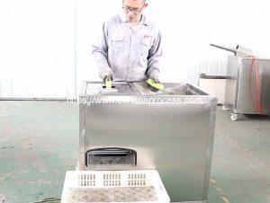 Automatic Green Banana Peeling Machine for Spain Customer
