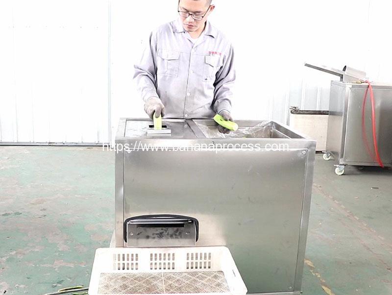 Automatic-Green-Banana-Peeling-Machine-Test-for-Spain-Customer